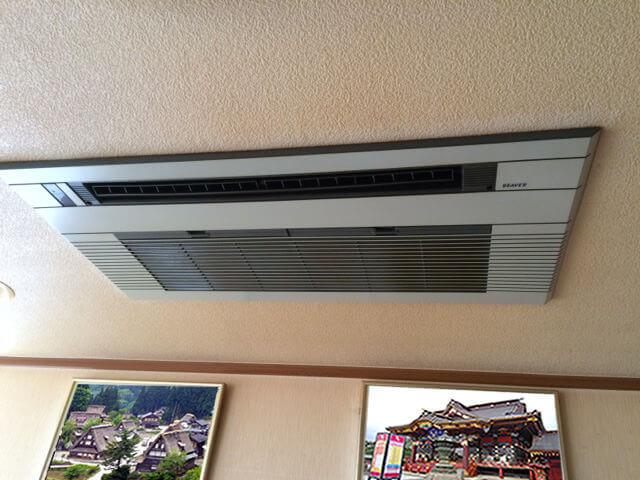 入れ替え前の三菱重工製エアコン