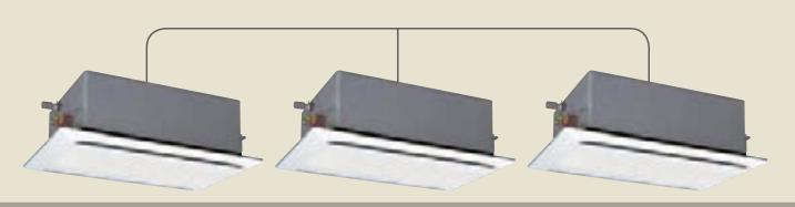 天井カセットエアコン2方向室内機 省エネの達人同時個別トリプル R410A RCID-AP71K2